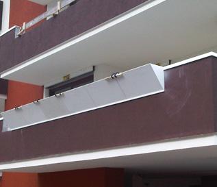 Fioriera in Marmoresina da balcone con incavo