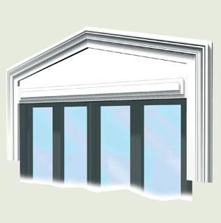 Elementi decorativi in Marmoresina per facciate edifici